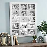 White Windowpane Collage Frame