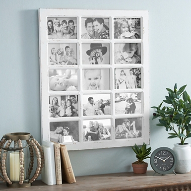 white windowpane collage frame