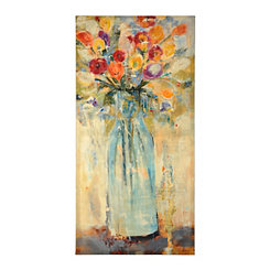Bright Blooms in Vase Canvas Art Print