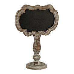 Distressed White Chalkboard Finial