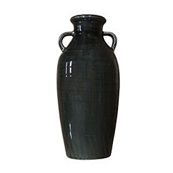 Dark Gray Farmhouse Vase, 15 in.