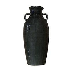 Dark Gray Farmhouse Vase, 15 in.