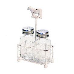 White Cow Salt and Pepper Shaker Set