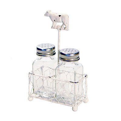 White Cow Salt and Pepper Shaker Set