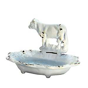 White Cow Soap Dish