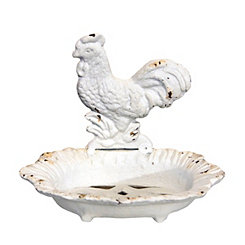 Cream Rooster Soap Dish
