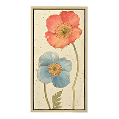 Poppy Pair I Framed Canvas Art Print