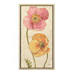 Poppy Pair II Framed Canvas Art Print