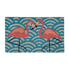 Flamingo Pair Doormat