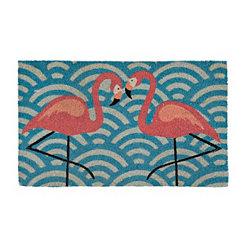 Flamingo Pair Doormat