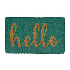 Teal Hello Doormat