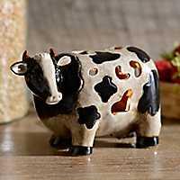 Ceramic Cow Tabletop Night Light