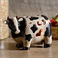 Ceramic Cow Tabletop Night Light