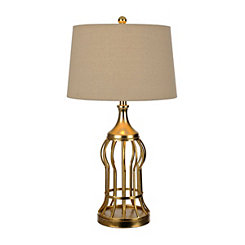 Golden Bird Cage Table Lamp