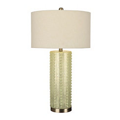 Pale Blue Sea Mercury Glass Table Lamp