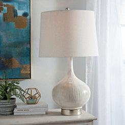 Emma Cream Ceramic Table Lamp