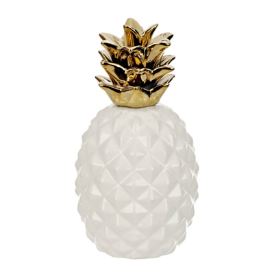 White and Gold Pineapple Figurine