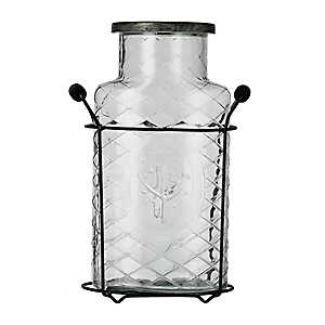 Diamond Stem Jar Vase in Caddy