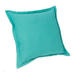 Solid Teal Outdoor Pillow
