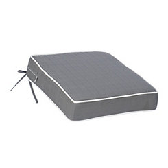Solid Gray Outdoor Chair Cushion