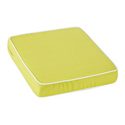 Solid Citron Outdoor Chair Cushion