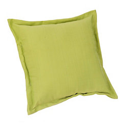 Light Green Fringe Outdoor Pillow