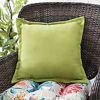Light Green Fringe Outdoor Pillow