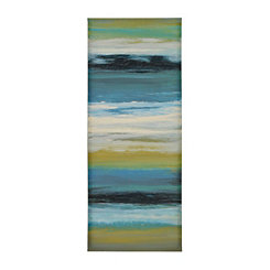 Navy Abstract II Canvas Art Print