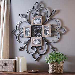 Metal Scrolled Floral Collage Frame