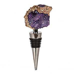 Purple Agate Wine Bottle Stopper