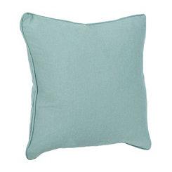 Aqua Linen Pillow