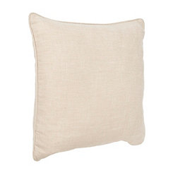 Solid Tan Linen Pillow