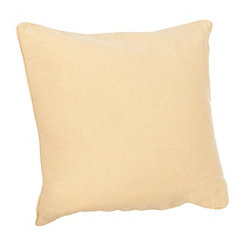 Solid Yellow Linen Pillow