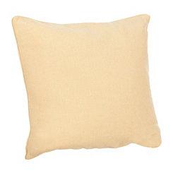 Solid Yellow Linen Pillow