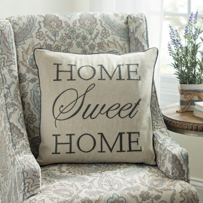 Gray Home Sweet Home Pillow