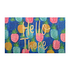 Hello Summer Pineapples Doormat
