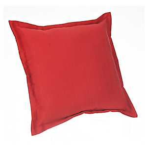 Red Fringe Outdoor Pillow