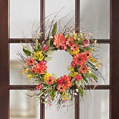 Mixed Daisy Wreath