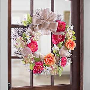 Spring Bright Peony Mix Wreath