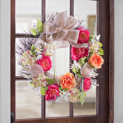 Spring Bright Peony Mix Wreath