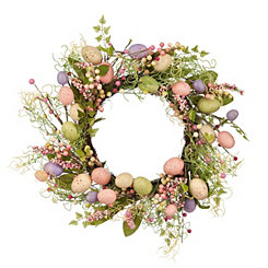 Floral Pastel Easter Egg Wreath