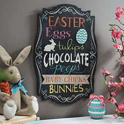 Decorative Easter Chalkboard Plaque