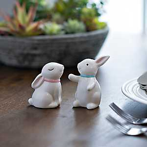 Hugging Bunnies Salt and Pepper Shaker Set