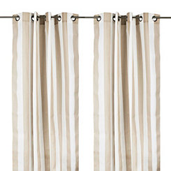 Cabana Tan Stripe Outdoor Curtain Panel, 84 in.