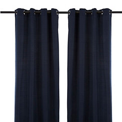 Solid Navy Outdoor Curtain Panel, 84 in.
