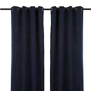 Solid Navy Outdoor Curtain Panel, 96 in.