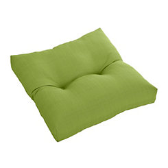 Buttoned Green Outdoor Ottoman Cushion