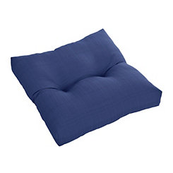 Solid Navy Outdoor Ottoman Cushion