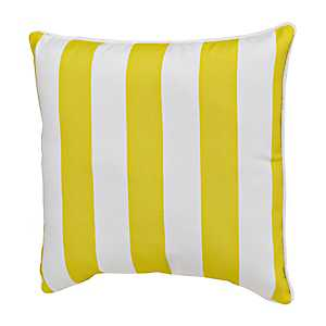 Citron and White Striped Outdoor Pillow