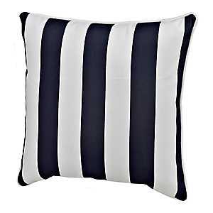 Navy Stripe Outdoor Pillow